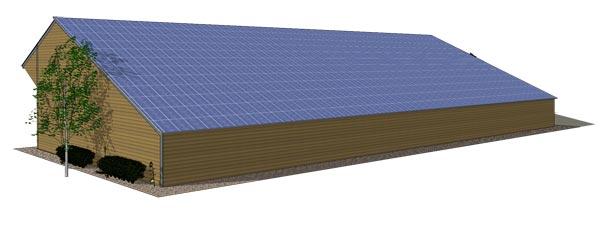 Volti le batiment solaire photovoltaique agricole pour - Hangar gratuit avec toiture photovoltaique ...